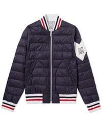 Moncler Gamme Bleu - Chevron Sleeve Varsity Jacket - Lyst