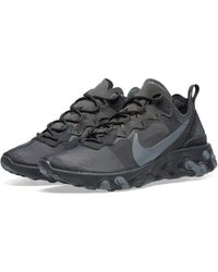 4914858167a Nike React Element 55 Triple Black in Black for Men - Lyst