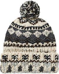 17e65379c Polo Ralph Lauren Lambs Wool Fair Isle Beanie Hat for Men - Lyst