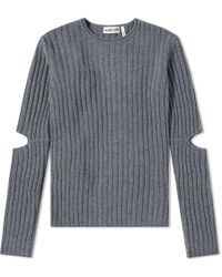 Helmut Lang - Elbow Cut Out Sweater - Lyst