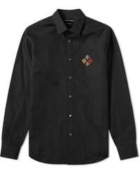 Alexander McQueen - Military Badge Logo Shirt - Lyst