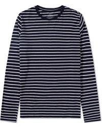 Save Khaki - Long Sleeve Marine Stripe Crew Tee - Lyst