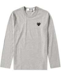 Play Comme des Garçons - Comme Des Garcons Play Long Sleeve Tee - Lyst
