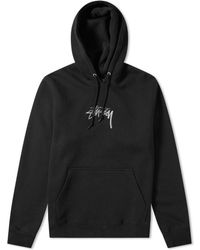 Stussy - Stock Logo Applique Hoody - Lyst