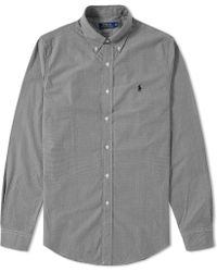 Polo Ralph Lauren - Custom Fit Button Down Gingham Shirt - Lyst