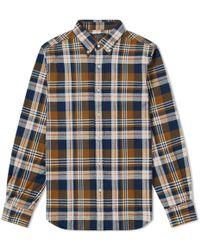 Beams Plus - Button Down Multi Check Shirt - Lyst