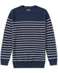 Barbour - Current Stripe Crew Knit - Lyst