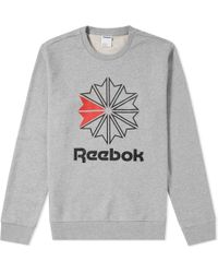 Reebok - Retro Starcrest Crew Sweat - Lyst