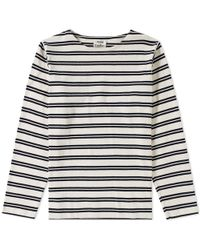 Acne Studios - Long Sleeve Nimes Stripe Tee - Lyst