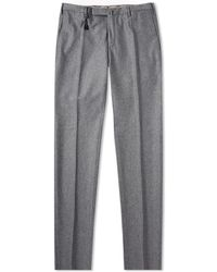 Incotex - Slim Fit Wool Flannel Trouser - Lyst