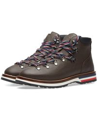 Moncler - Peak Leather Hiking Boot - Lyst
