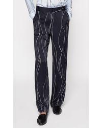 Equipment Lita Silk Trouser - Blue