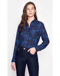 Equipment - Signature Top (eclipse Blue Cotr) Women's Clothing - Lyst
