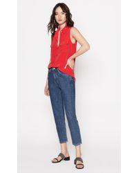 Equipment - Sleeveless Slim Signature Silk Shirt - Lyst