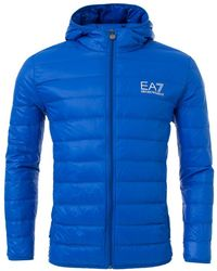 EA7 - Hooded Quilted Jacket - Lyst