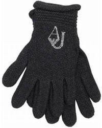 Armani Jeans - Beaded Logo Gloves - Lyst