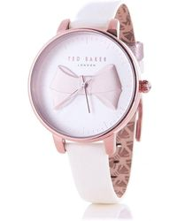 Ted Baker - Brook Bow Detail Watch In White - Lyst