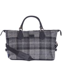 Barbour - Shadow Tartan Explorer Holdall - Lyst