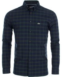 Lacoste - Motion Checked Cotton Twill Shirt - Lyst