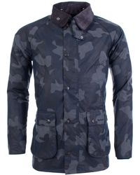 Barbour - Camo Bedale In Navy - Lyst