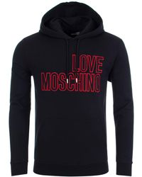 Love Moschino - Hoodie With Love Logo In Black - Lyst