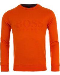 d5005b4bf BOSS Athleisure Salbo Crew Neck Sweatshirt Grey in Gray for Men - Lyst