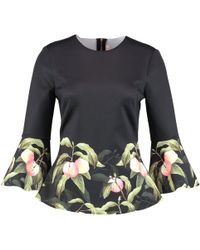 Ted Baker - Viccie Peach Blossom Print Top - Lyst