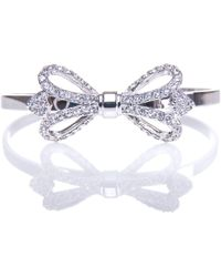 Ted Baker - Hediie Ornate Bow Crystal Cuff - Lyst