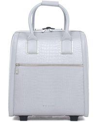 Ted Baker - Cressa Croc Embossed Travel Bag - Lyst