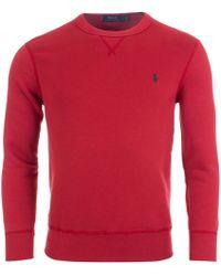 Ralph Lauren - Cotton Blend Fleece Sweatshirt - Lyst