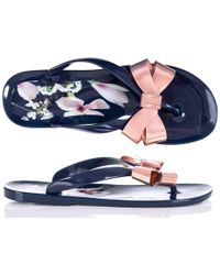 c16980454fbdc Ted Baker - Izydor Harmony Flip Flop In Navy - Lyst