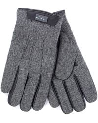 Ted Baker - Slick Gloves In Grey - Lyst