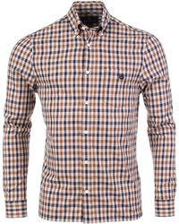 Aquascutum - York Check Shirt In Vicuna House Check - Lyst