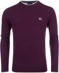 Fred Perry - Merino Wool Tipped Fine Jumper - Lyst