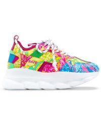 Versace - Technicolor Baroque Printed Sneakers - Lyst