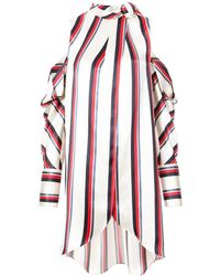 Monse - Pussy Bow Striped Shirt - Lyst