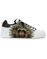 30f96db54d8 Lyst - Gucci New Ace Pierced Heart Sneakers in White for Men