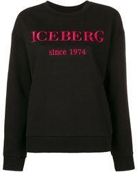 Iceberg - Logo Print Cotton Sweatshirt - Lyst