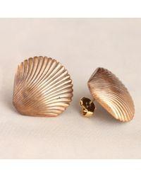 Erica Weiner - Vintage Shell Earrings - Lyst