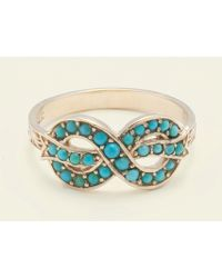 Erica Weiner - Bow Ring (turquoise) - Lyst
