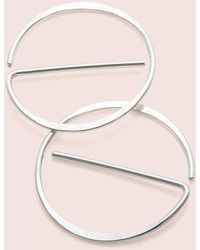 "Erica Weiner - Universal ""no"" Earrings (silver) - Lyst"
