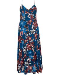 City Chic - Multi Colour Printed Maxi Dress - Lyst