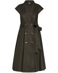 Evans - **city Chic Green Military Dress - Lyst