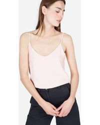 Everlane - The Double-lined Silk V-neck Cami - Lyst