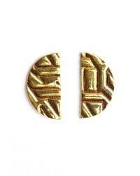 Winifred Grace | Semi Circle Stud Earrings | Lyst