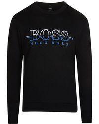 BOSS Stand-collar Sweater In Lambswool With Two-way Zip in Metallic ... 2c18b2cb3b8e