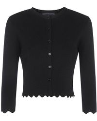 French Connection - Lela Crepe Knitted Cardigan - Lyst