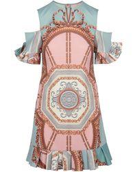 912237137aca Ted Baker - Norahe Versailles Cold Shoulder Frill Dress - Lyst