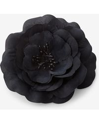 Express - Black Flower Hair Clip And Pin - Lyst