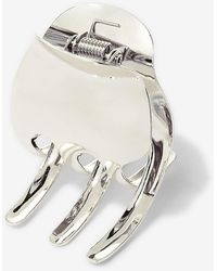Express - Kitsch Silver Large Claw Clip - Lyst